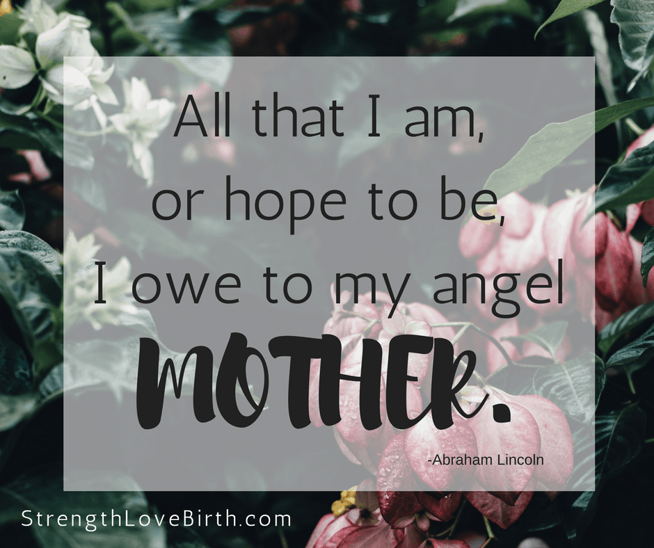 Beautiful and encouraging quote for mom. Mother's Day post for your mom.