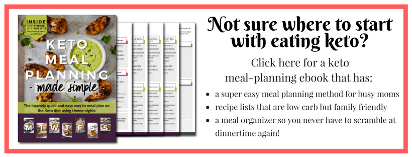 Meal Planning help for busy moms on the Keto plan!