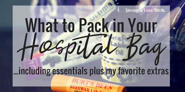 A free printable list of all the essentials plus some can't miss extras for packing your hospital bag (or birthing center!). Everything for mom, baby, and partner. Make sure to grab your printable checklist for your hospital bag.