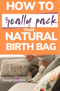 Simple natural hospital bag checklist for mom, dad, and baby