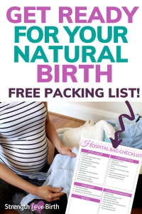 Pack your hospital bag easily and quickly with this printable list