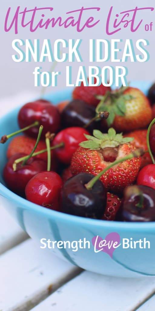 Fresh berries as a good snack food for labor