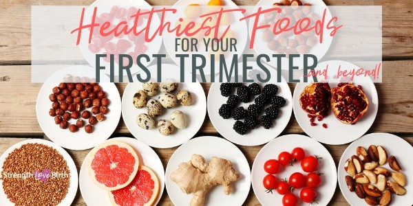 An array of healthiest foods for first trimester of pregnancy