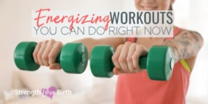 Woman doing quick energizing workout at home