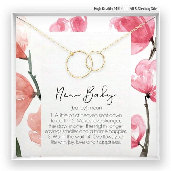 New Baby necklace gift for pregnant woman